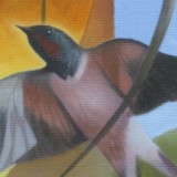 Detail from On A Swallow's Curve by Mark Sheeky