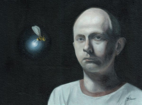 Self Portrait With Electric Wasp by Mark Sheeky