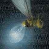 Detail from Self Portrait With Electric Wasp by Mark Sheeky