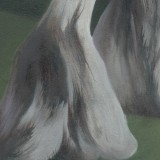 Detail from Nine Ladies Weeping At The Death Of A Phoenix by Mark Sheeky