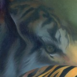 Detail from Tiger Moving Nowhere At All by Mark Sheeky