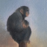Detail from Monkey At Sunset by Mark Sheeky